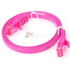 LINK US-5041-7 CATE 5E FLAT PATCH CORD 1M.