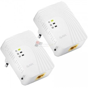 ZYXEL PLA4201TWIN 500 MBPS MINI POWERLINE ETHERNET ADAPTER TWIN PACK