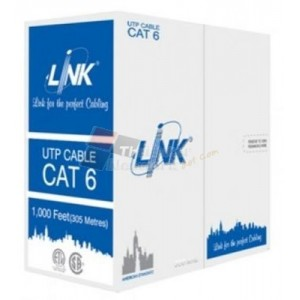 LINK US-9106MW CAT 6 UTP, PE OUTDOOR w/Drop wire & Power wire Black 305 M./Reel in Bx.