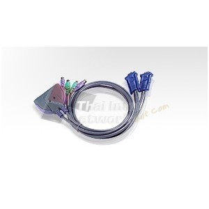 ATEN CS62S 2Port PS/2 KVM Switch(built-in 90cm. Cable)