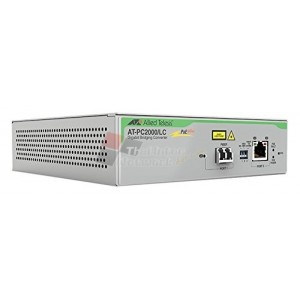 Allied Telesis AT-PC2000/SC-60 10/100/1000T POE+ to 1000SX SC Media Converter