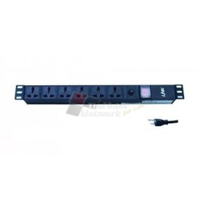 Link CH-10306 PDU 6 Universal Outlet(Lighting SW+ LED)