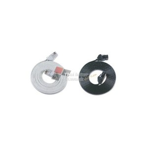 LINK US-5055X CAT 5E FLAT PATCH CORD 15 M. White/Black