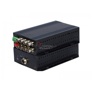 Level One AVF-1800 8-Channel BNC over Fiber Extender Kit, 20km