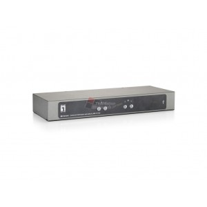 Level One KVM-0261 2-Port High Resolution DVI USB KVM Switch with Audio & USB 2.0 Hub